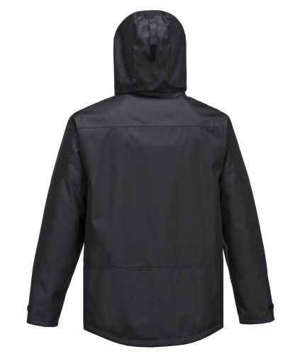 Portwest S555 Men's Outcoach Waterproof Rain Jacket, Black, rear