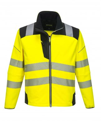 Portwest T402 High Visibility Soft Shell Jacket Front