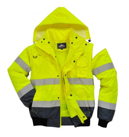 Portwest UC465 High Visibility 3-in-1 Bomber Jacket