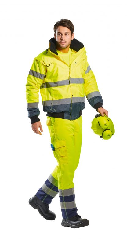 Portwest UC465 High Visibility 3-in-1 Bomber Jacket full body 2