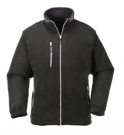 Portwest UF401 Black Double Sided Fleece Jacket, on body