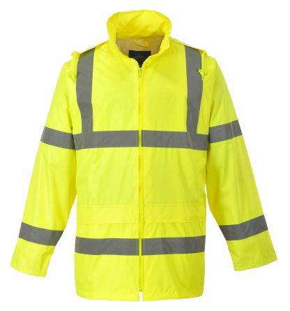 Portwest UF440 High Visibility Rain Jacket, reflecitve, Unisex, Yellow main