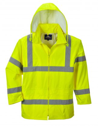 Portwest UF440 High Visibility Rain Jacket, reflecitve, Unisex, Yellow