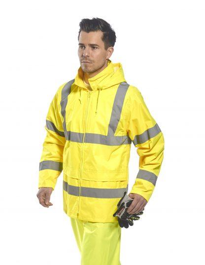 Portwest UF440 High Visibility Rain Jacket, reflecitve, Unisex, Yellow, Onbody