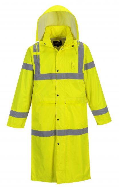 Portwest UF445 High Visibility Rain Coat, Yellow, Reflective Unisex