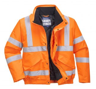 Portwest URT32 High Visibility Bomber Jacket, orange