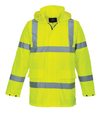 Portwest US160 High Visibility Rain Jacket, Yellow, Main