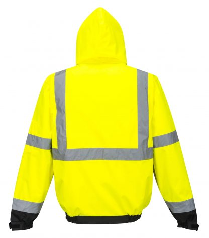 Portwest US365 3-in-1 High Visibility Jacket, Reflective, Yellow, Back