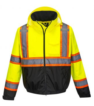 Portwest US367 High Visibility two-tone Safety Jacket w/ Removable Liner, Front