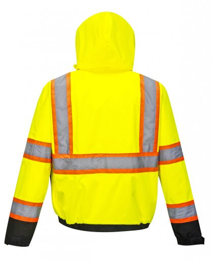 Portwest US367 High Visibility two-tone Safety Jacket w/ Removable Liner, Back