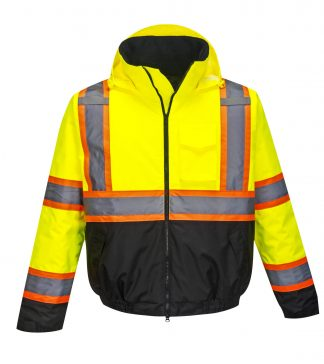 Portwest US368 High Visibility Two-tone Safety Jackets w/ Removable Fleece