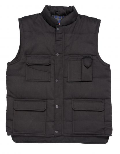 Portwest US414 Men's Shetland Winter Vest, Black