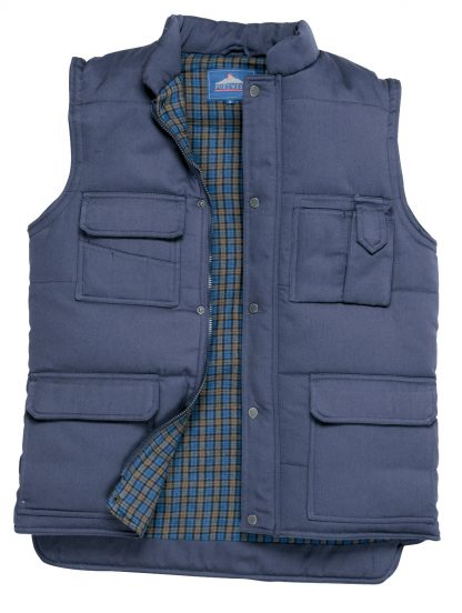 Portwest US414 Men's Shetland Winter Vest, Navy