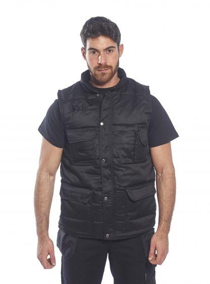 Portwest US414 Men's Shetland Winter Vest, Black on body