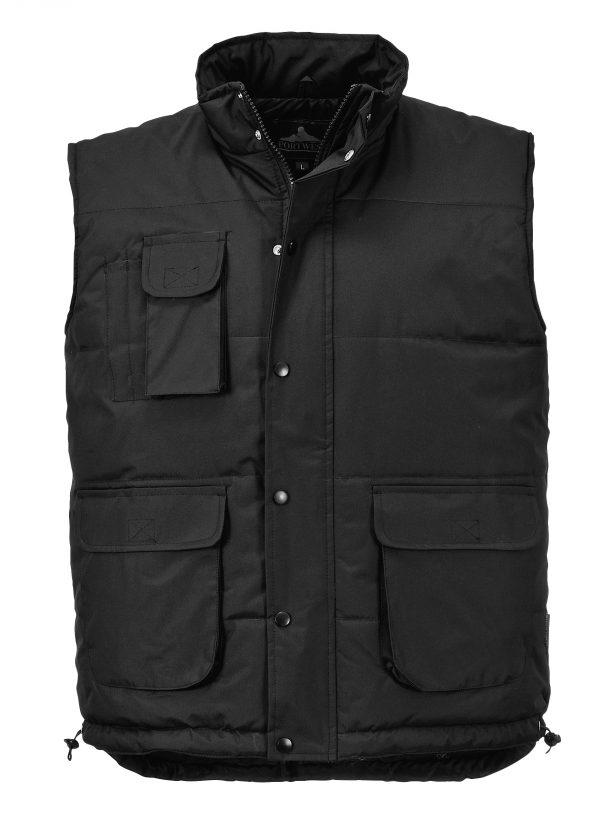 Portwest Men's Classic Winter Vest, Black
