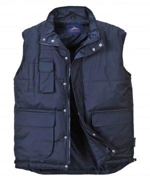 Portwest Men's Classic Winter Vest, Navy Open