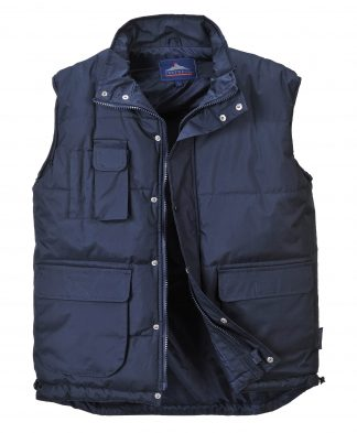 Portwest Men's Classic Winter Vest, Navy Open