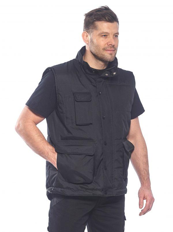 Portwest Men's Classic Winter Vest, Navy on body