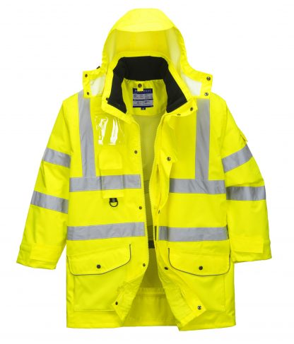 Portwest US427 High Visibility 7-in-1 Traffic Jacket, 8