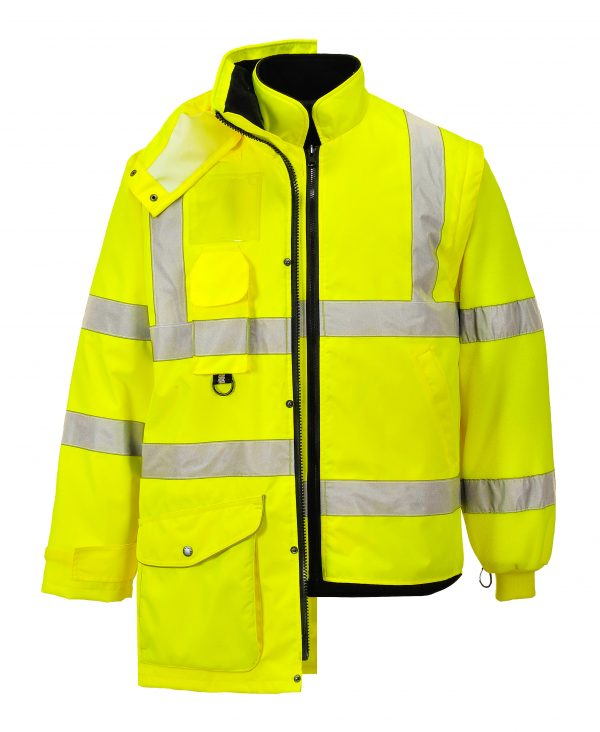 Portwest US427 High Visibility 7-in-1 Traffic Jacket, 11