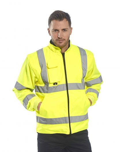 Portwest US427 High Visibility 7-in-1 Traffic Jacket, 1