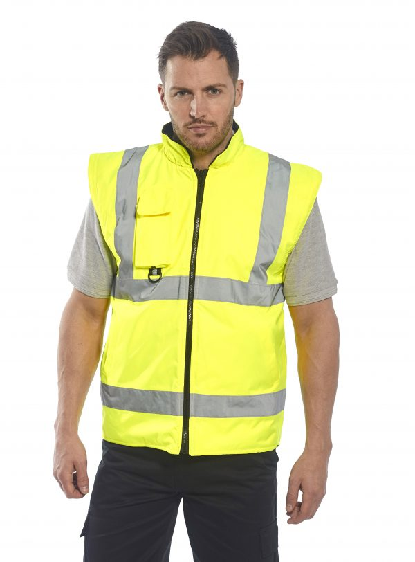 Portwest US427 High Visibility 7-in-1 Traffic Jacket, without sleeve