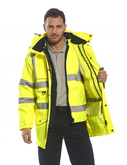 Portwest US427 High Visibility 7-in-1 Traffic Jacket, 6