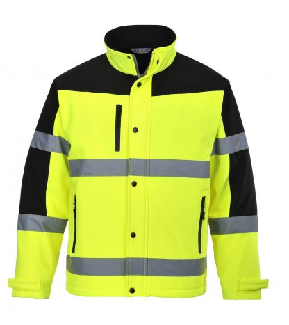 Portwest Men's High Visibility Softshell Jacket, Yellow