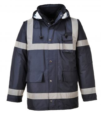Portwest US433 Navy, Reflective Winter Jacket