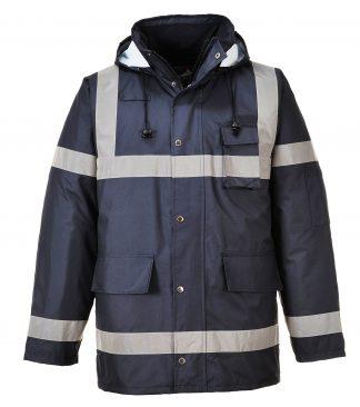 Portwest US433 Navy, Reflective Winter Jacket