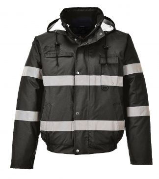 Portwest US434 Iona Lite Reflective Winter Jacket, Black