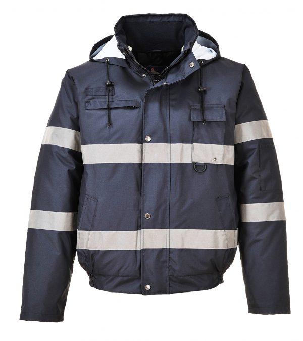 Portwest US434 Iona Lite Reflective Winter Jacket, Navy