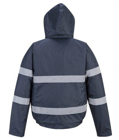 Portwest US434 Iona Lite Reflective Winter Jacket, Navy Rear