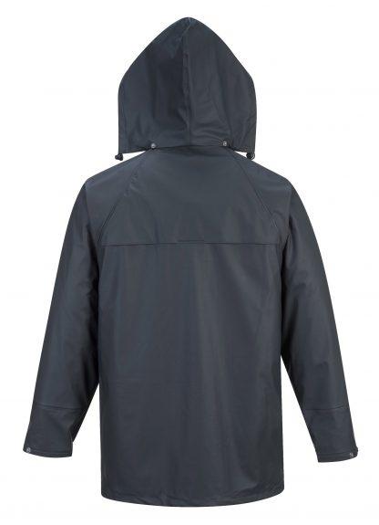 Portwest US450 Navy Waterproof Rain Jacket, Rear