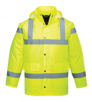 Portwest US460 Yellow, High Visibility Traffic Jacket 2