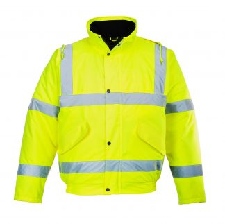Portwest US463 High Visibility Insulated Bomber Jacket, main