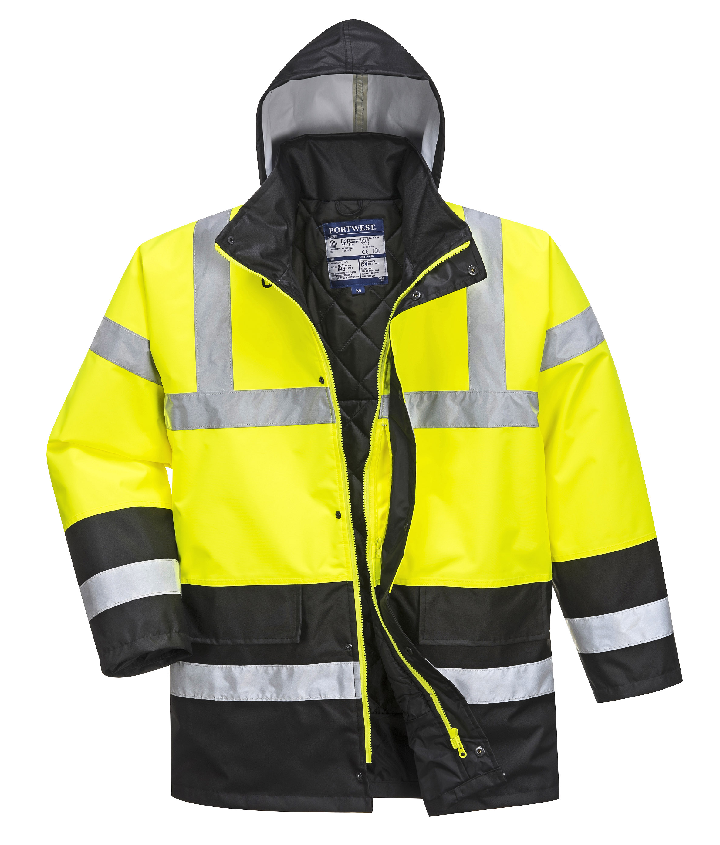 Portwest US466 High Visibility Winter Jacket — iWantWorkwear 39a13a09a330