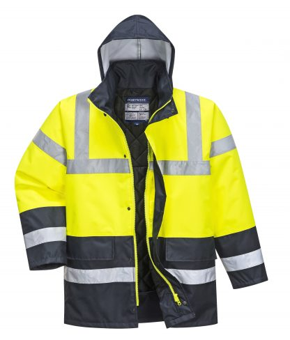 Portwest US466 High Visibility Yellow/Navy Jacket, Main