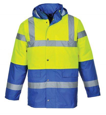 Portwest US466 High Visibility Yellow/Royal Blue Jacket, Main