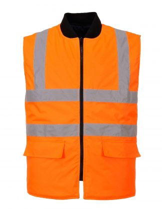 Portwest US469 High Visibility Insulated Vest, Reversible, Orange