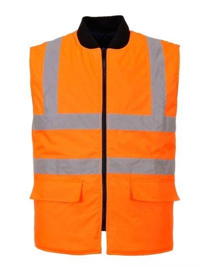 Portwest US469 High Visibility Insulated Vest, Reversible, Orange