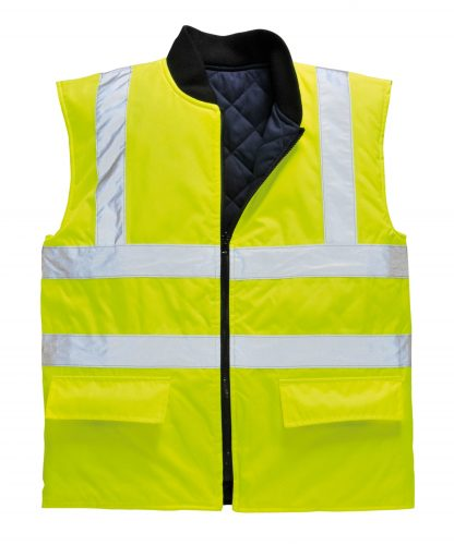 Portwest US469 High Visibility Insulated Vest, Reversible, Yellow
