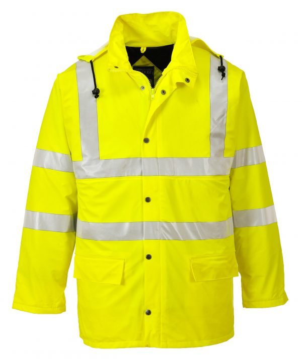 Portwest US490 High Visibility Insulated Rain Jacket, Yellow Main