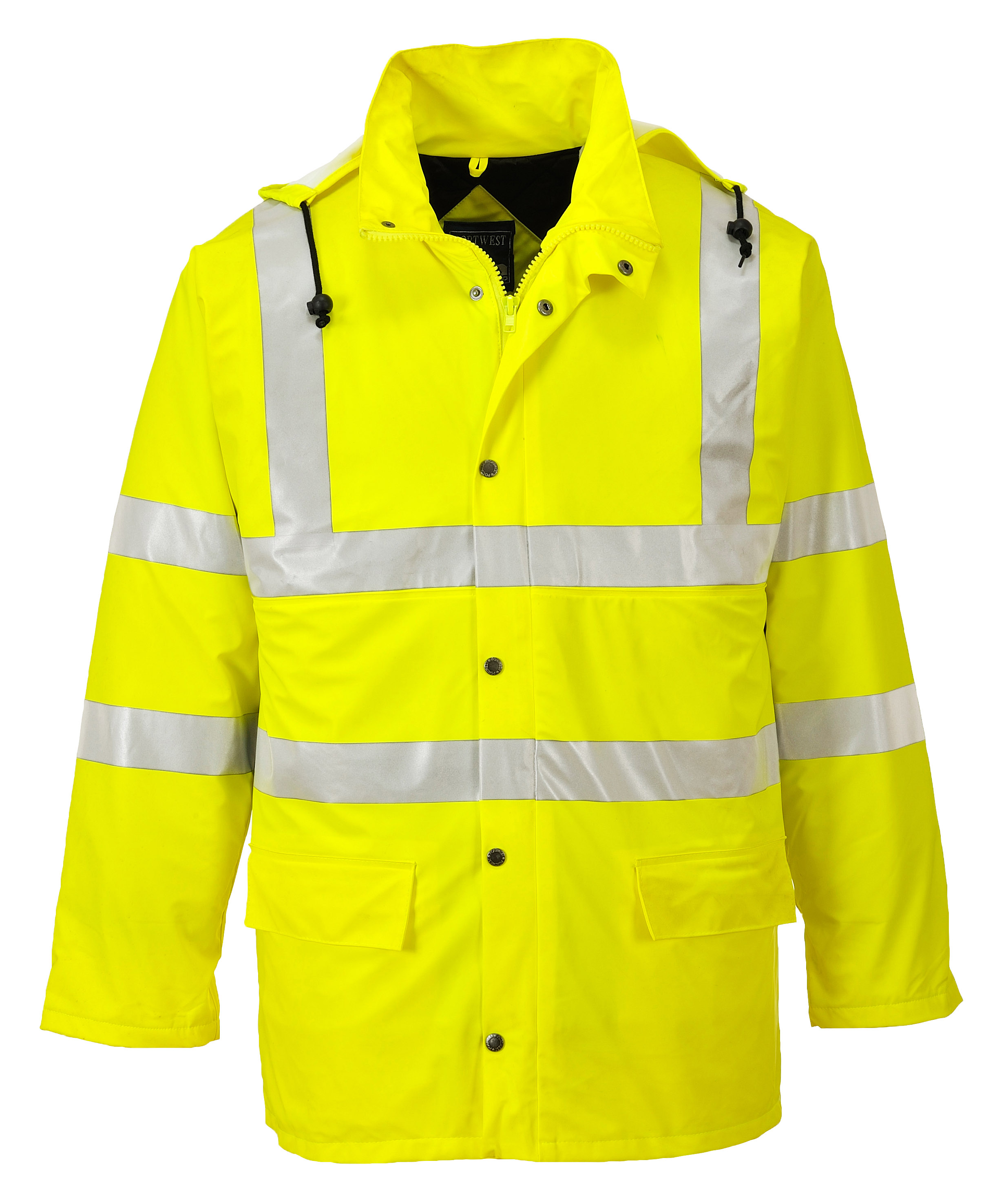 Portwest Us490 Insulated Rain Jacket Yellow Iwantworkwear