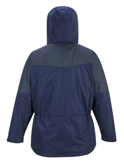 Portwest US570 Navy 3-in-1 Waterproof Jacket, rear