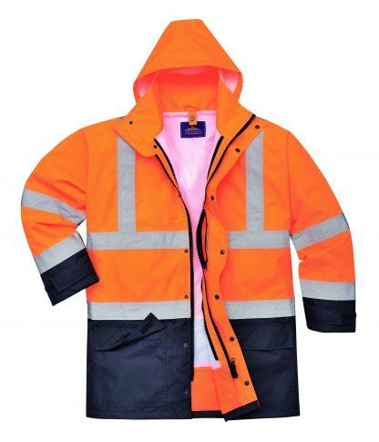 Portwest 5-in1 High Visibility Jacket, Orange Black