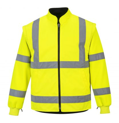 Portwest 5-in1 High Visibility Jacket, Yellow Inner Jacket