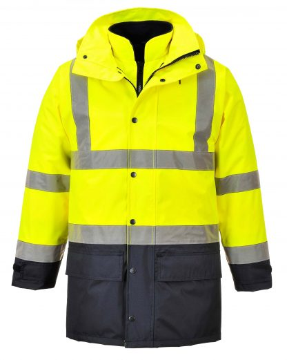 Portwest 5-in1 High Visibility Jacket, Yellow Navy