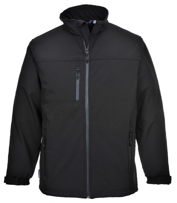 Portwest UTK50 Softshell Fleece Jacket, Black