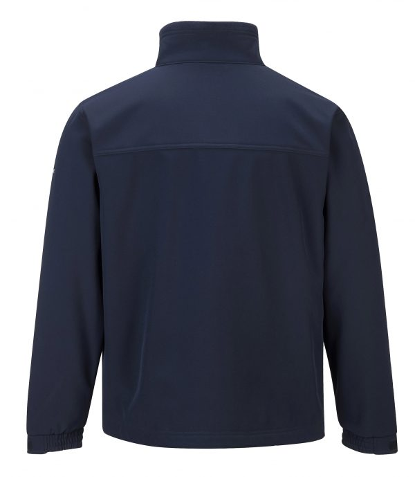 Portwest UTK50 Softshell Fleece Jacket, Navy Rear